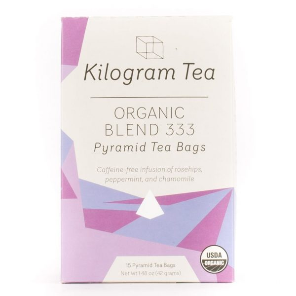 Organic Blend 333 Herbal Pyramid Tea Bags from Kilogram Tea.