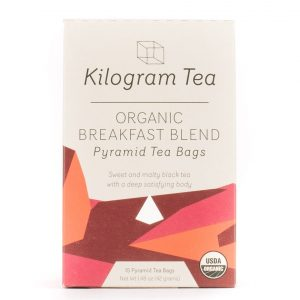 Kilogram Organic Breakfast Blend Black Tea Pyramid Tea Bags.
