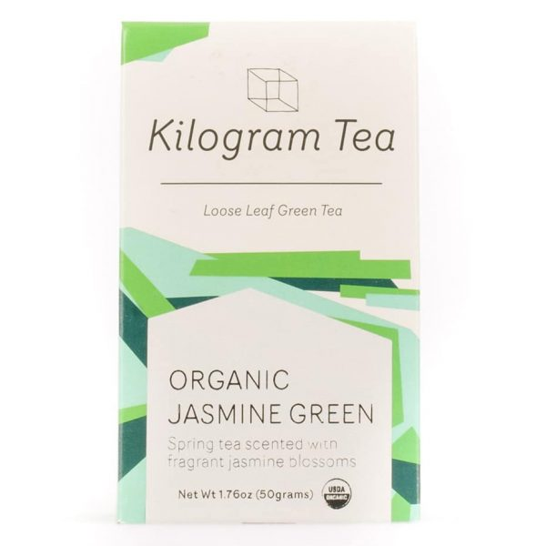 Organic Jasmine Green Loose Leaf Tea from Kilogram Tea.