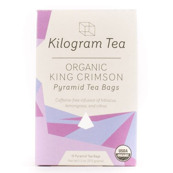 Organic King Crimson Herbal Pyramid Tea Bags from Kilogram Tea.