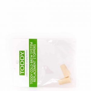 Toddy system outlet stoppers.