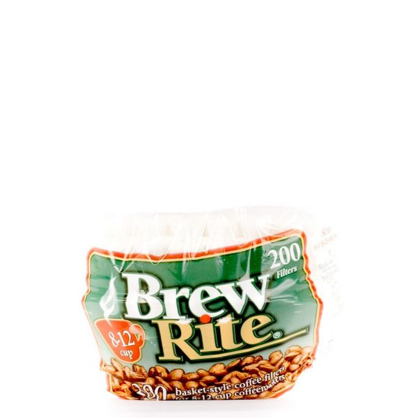 Brew Rite 8-12 cup paper coffee filters.