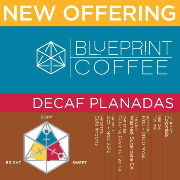 our new decaf, planadas, from colombia