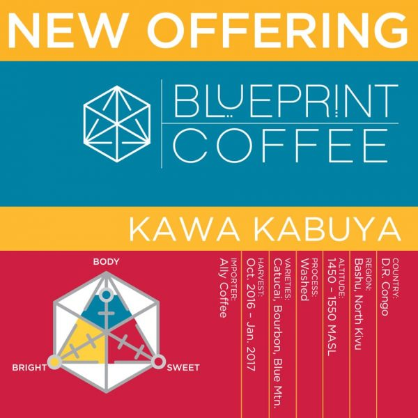 new offering from blueprint coffee - kawa kabuya from D.R. congo