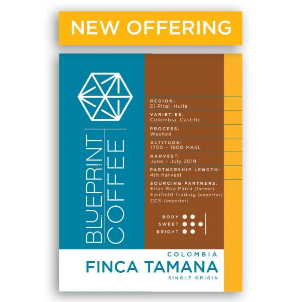 Finca Tamana Colombia single origin coffee from Blueprint Coffee.
