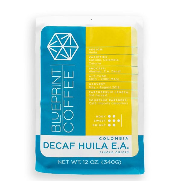 Decaf Huila EA, Colombia - a single origin coffee roasted by Blueprint Coffee.