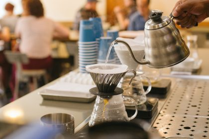 Follow this v60 brewing guide to make filtered coffee just like the baristas at Blueprint Coffee Delmar.