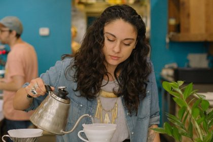Ashley Delgado is the coffee lead at Blueprint Coffee Delmar.