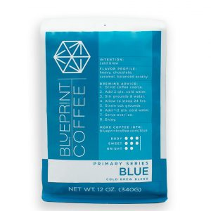Primary Series: Blue (Cold Brew Blend) from Blueprint Coffee.