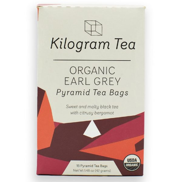 Kilogram Organic Earl Grey Black Tea Bags with Bergamot.